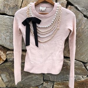 Kate Spade Wool Cashmere Pearl Ribbon Sweater